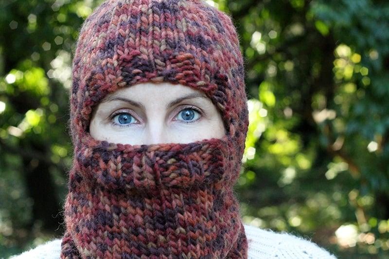 chunky knit balaclava pattern