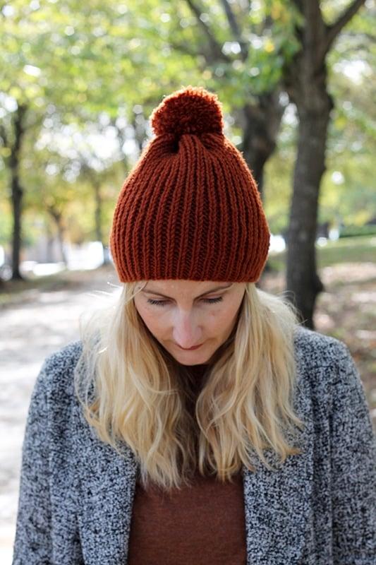 easy beginner hat knitting pattern