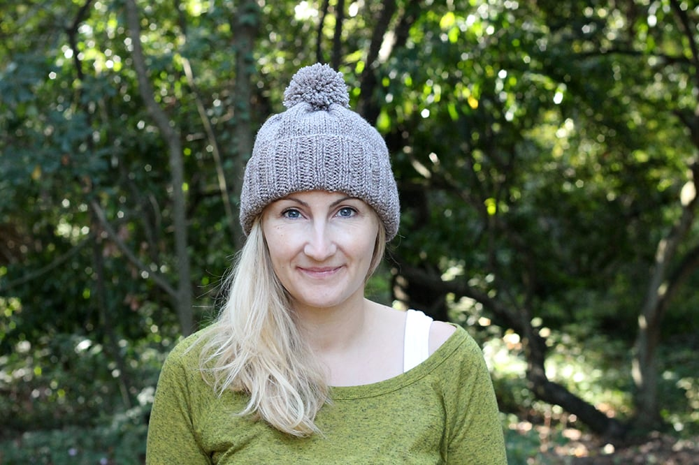 easy cuffed beanie pattern