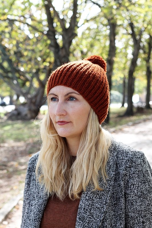 easy ribbed beanie knitting pattern