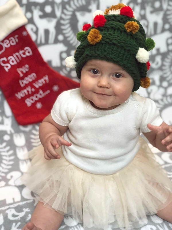 Baby Christmas Tree Hat Knitting Pattern Free Knitting