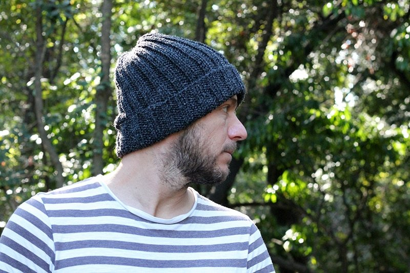 knit hat pattern for men
