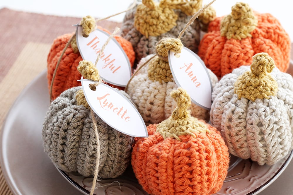 mini crochet pumpkin free pattern