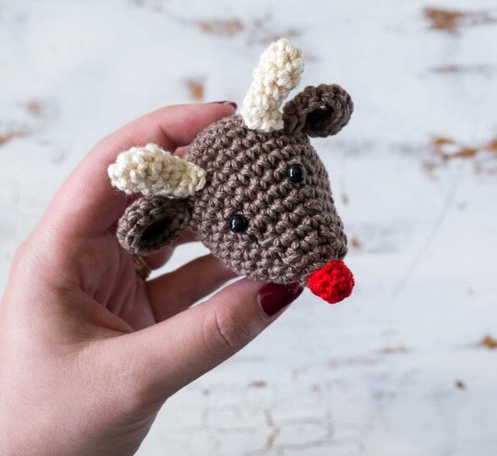 Rudolf crochet Christmas ornament pattern