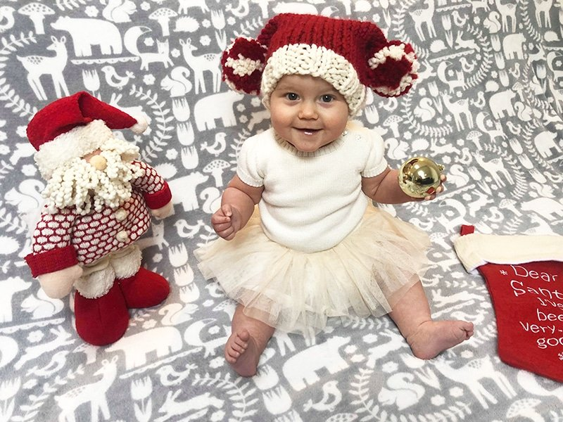 Baby Santa hat free pattern
