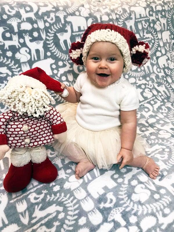 Baby Santa sack hat