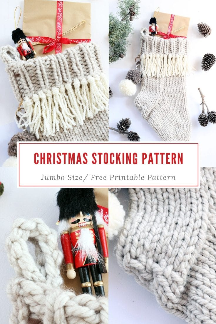 Christmas Stocking Free Knitting Pattern