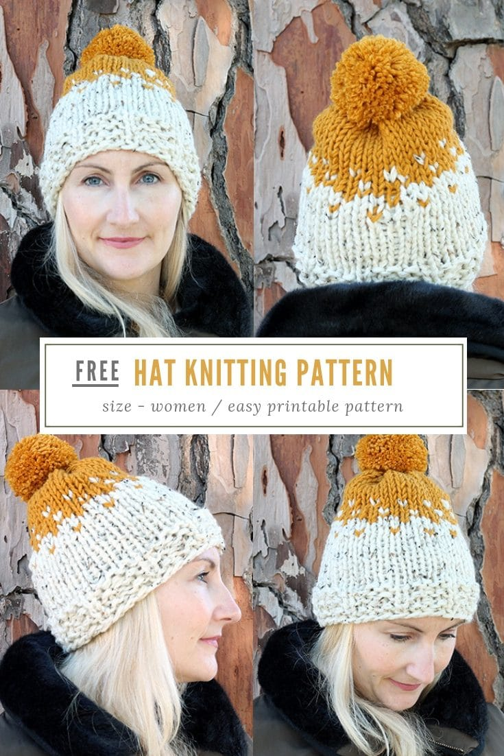 Knit Beanie Hat Pattern   The Willow