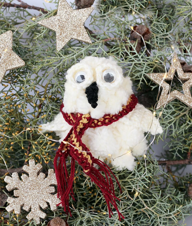 Harry Potter owl Hedwig Christmas tree ornament
