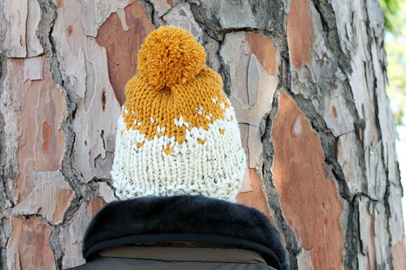 Super bulky knit hat