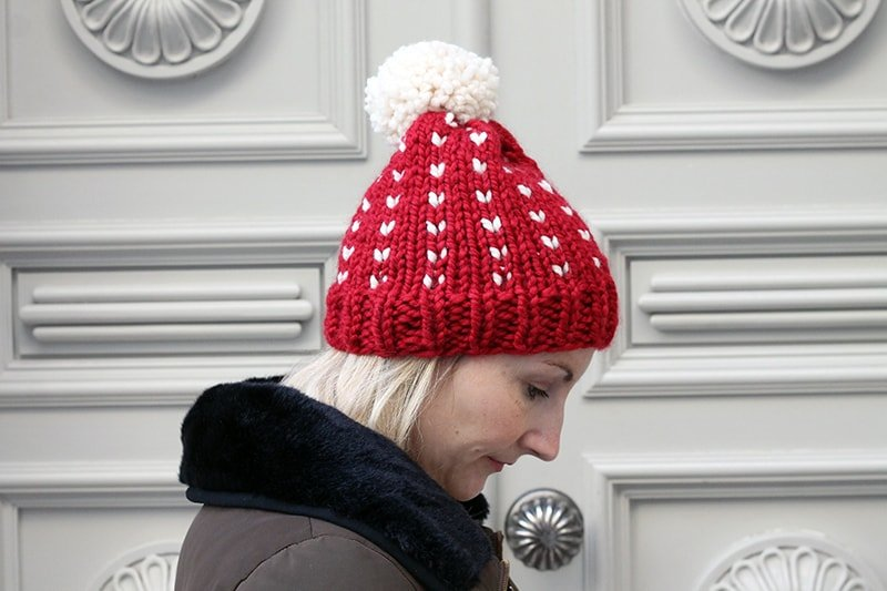 holiday hat knitting pattern