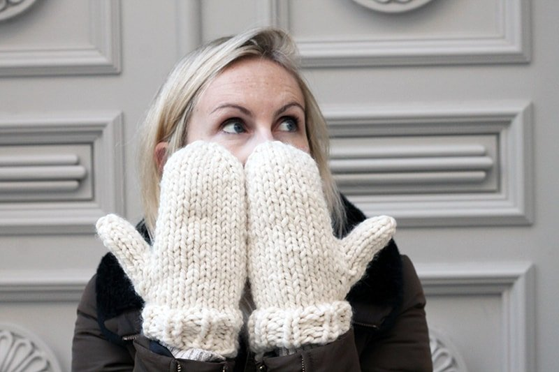 Easy Mittens Knitting Pattern | Free Knitting Patterns | Handy Little Me