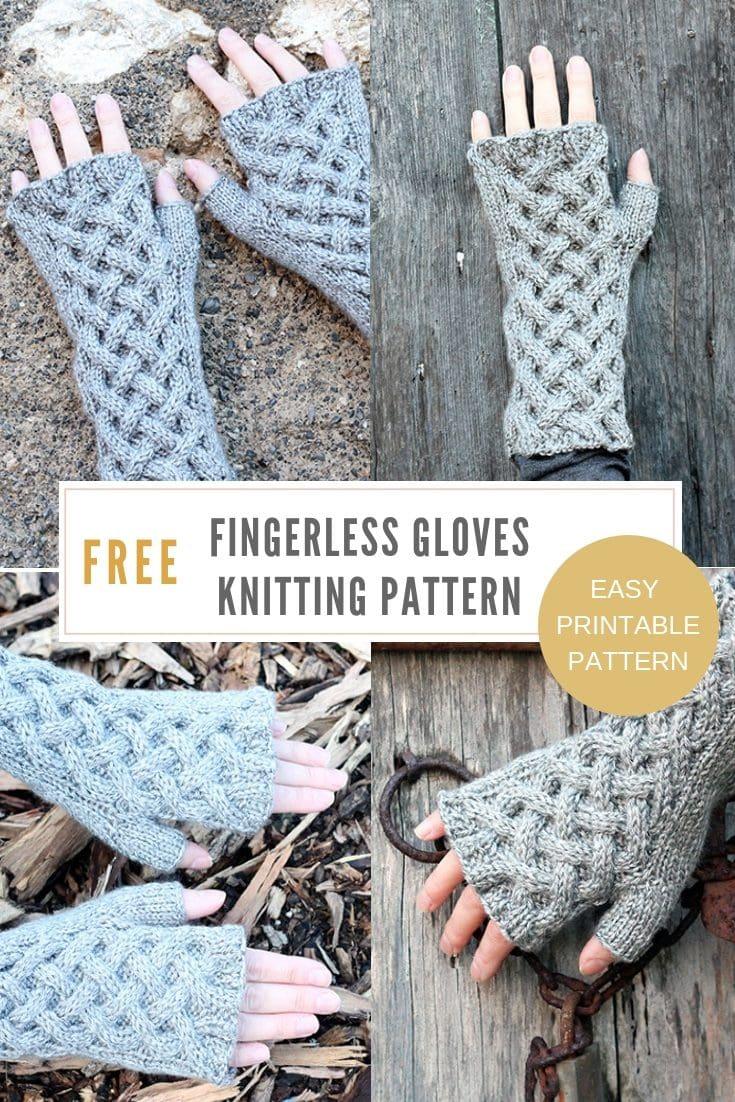 Celtic Cable Fingerless Gloves Pattern