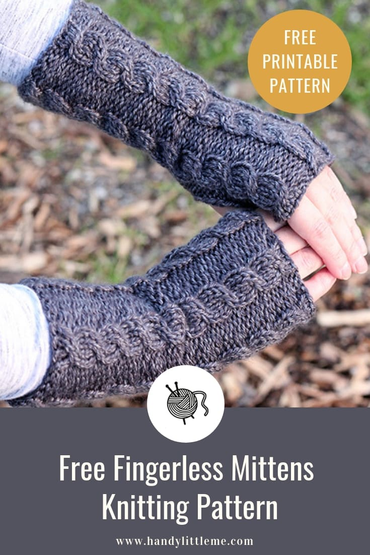 Cabled fingerless gloves pattern