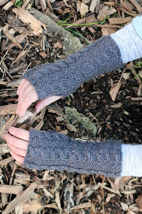 Easy cable mittens pattern