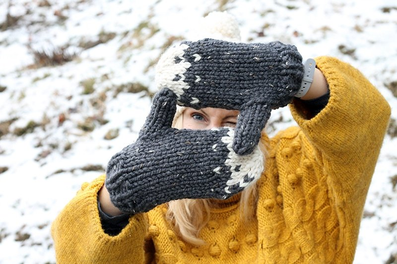 Free chunky mittens pattern