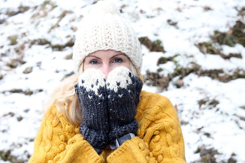 Free snow mittens knitting pattern