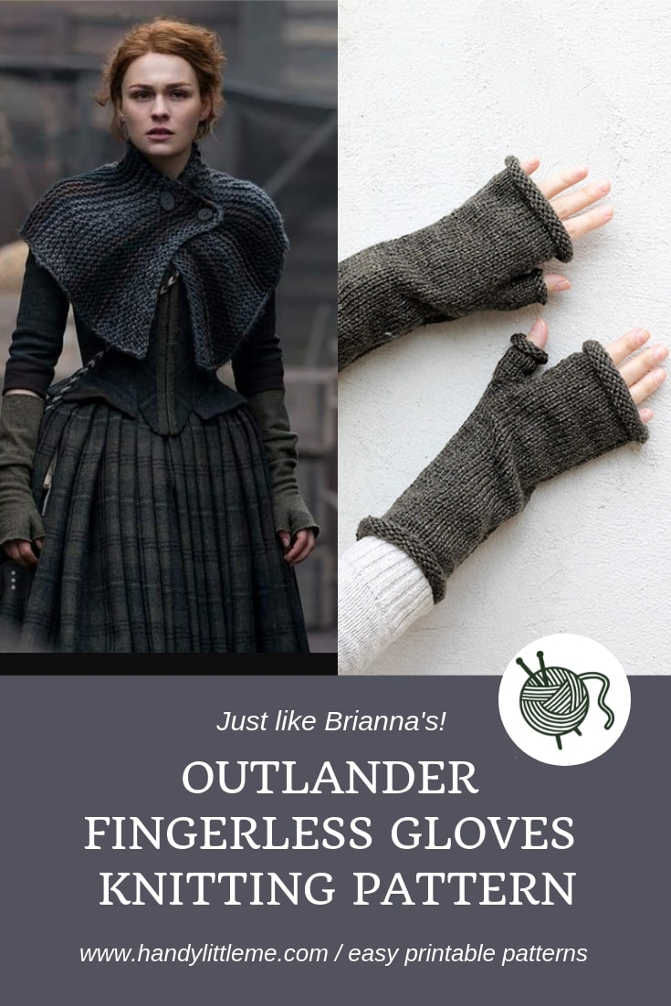 Outlander fingerless gloves knitting pattern free