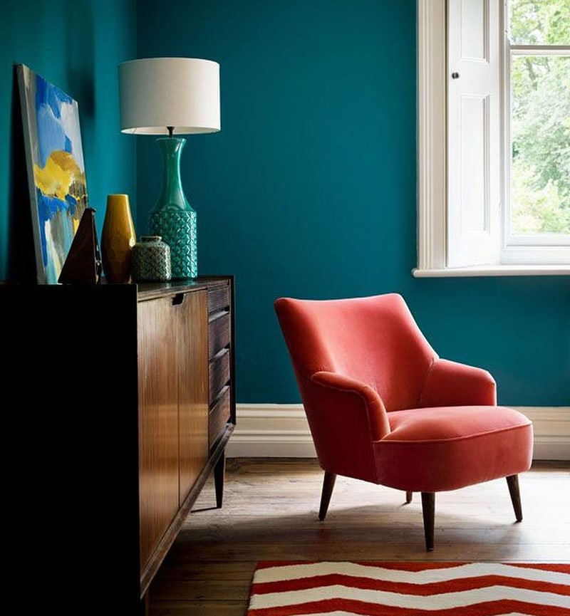 coral pink armchair