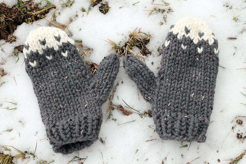 free chunky mittens knitting pattern