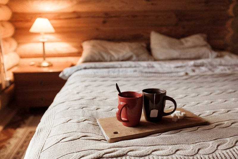 Cozy cabin bed
