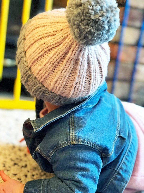 Easy knit baby hat pattern free