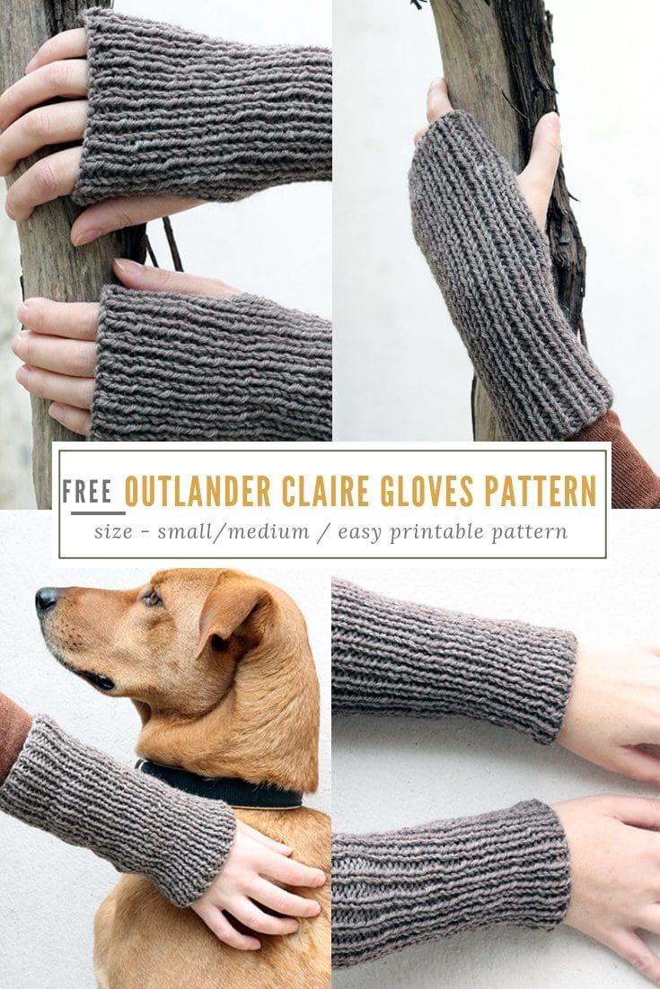 Outlander Claire Gloves