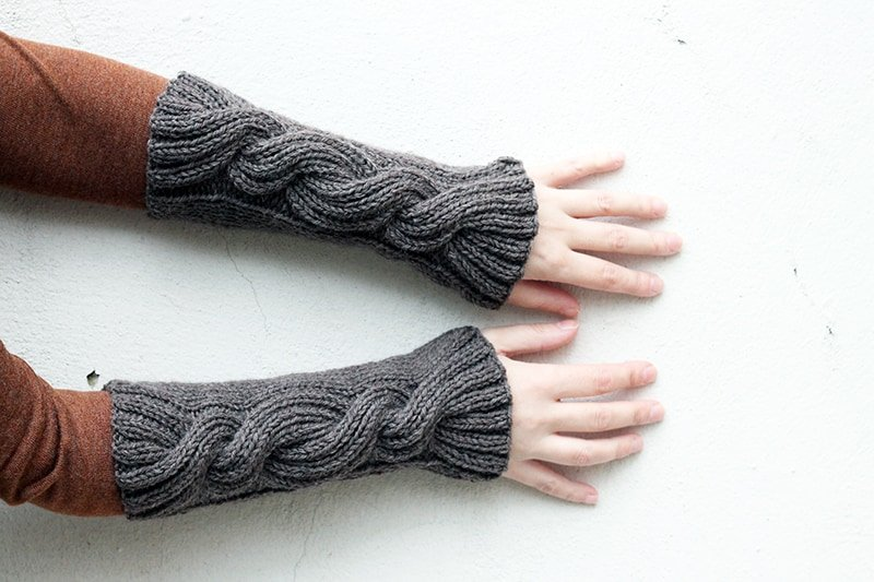 Claire's Cable Knit Wrist Warmers | Free Knitting Patterns ...