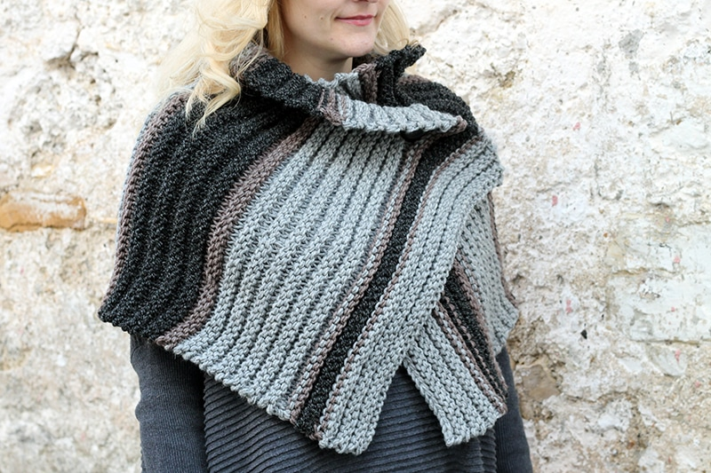 Ribbed shrug knitting pattern free