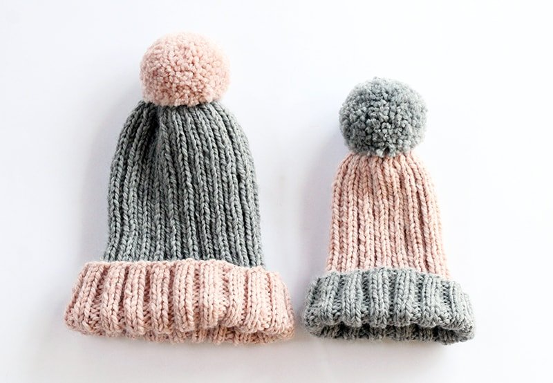 mommy and me hat knitting patterns