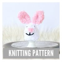 Easter Bunny Egg Cozy Knitting Pattern PDF