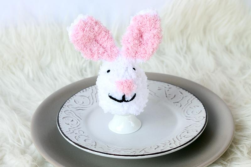 Bunny egg cosy with ears