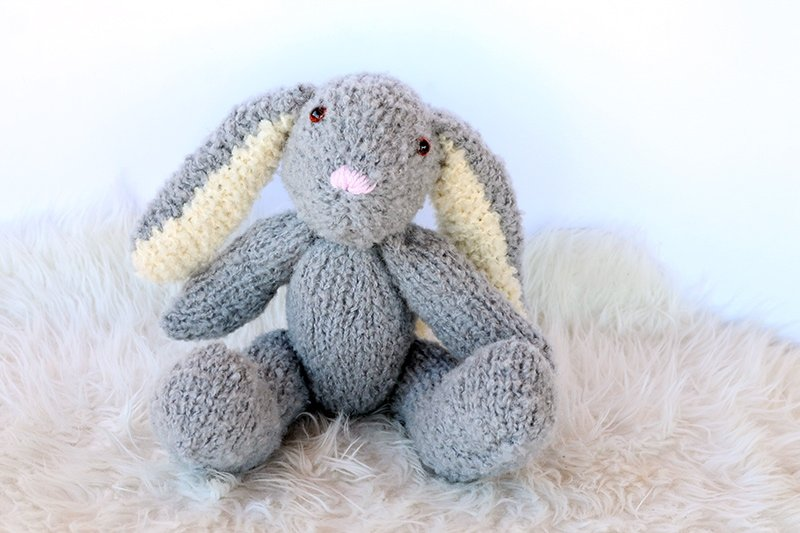 big floppy eared knitted bunny