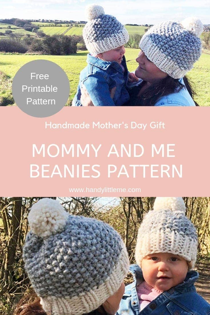 0d2592c402fc8 Mommy and me matching beanie hat patterns free
