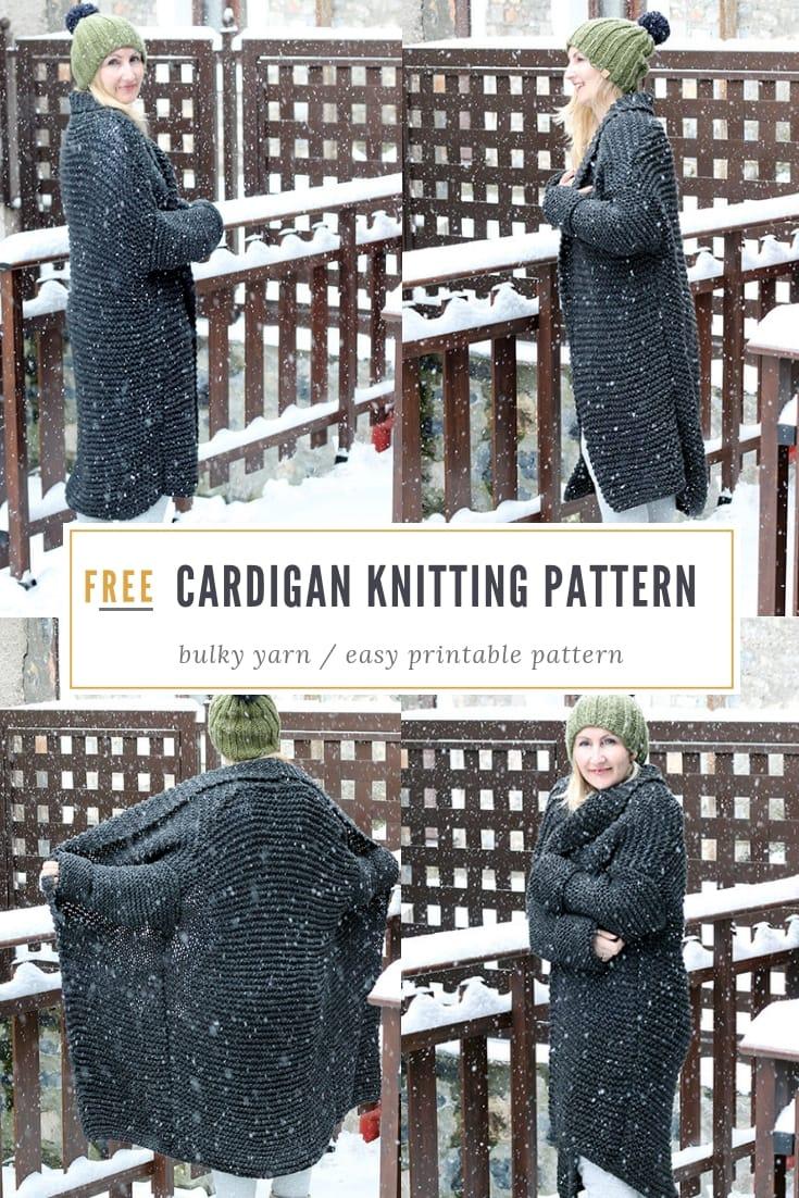 Oversized cardigan knitting pattern