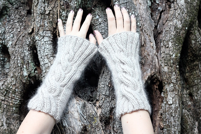 cable arm warmers knitting pattern