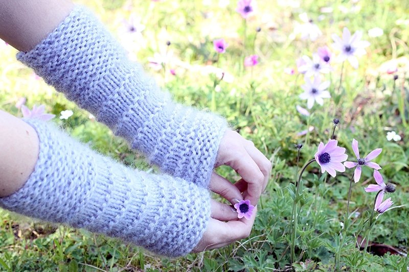 easy knit hand warmers pattern