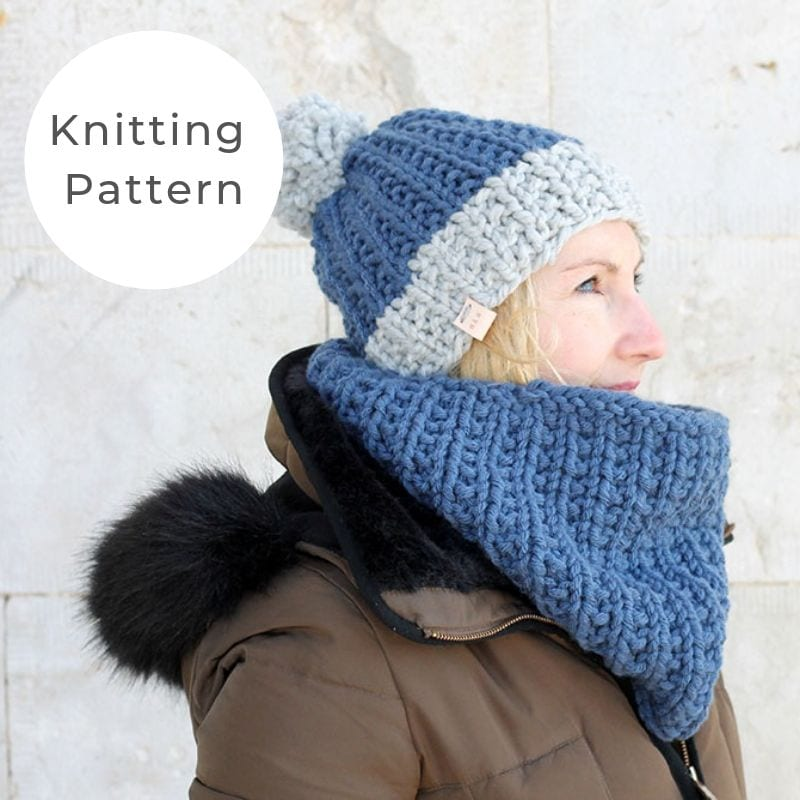 Hat and cowl knitting pattern
