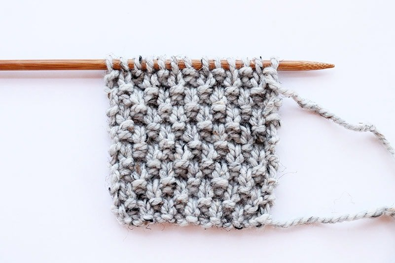 American moss stitch example