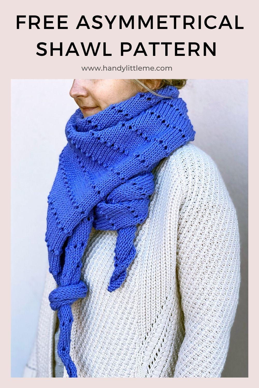 Asymmetrical shawl pattern pin