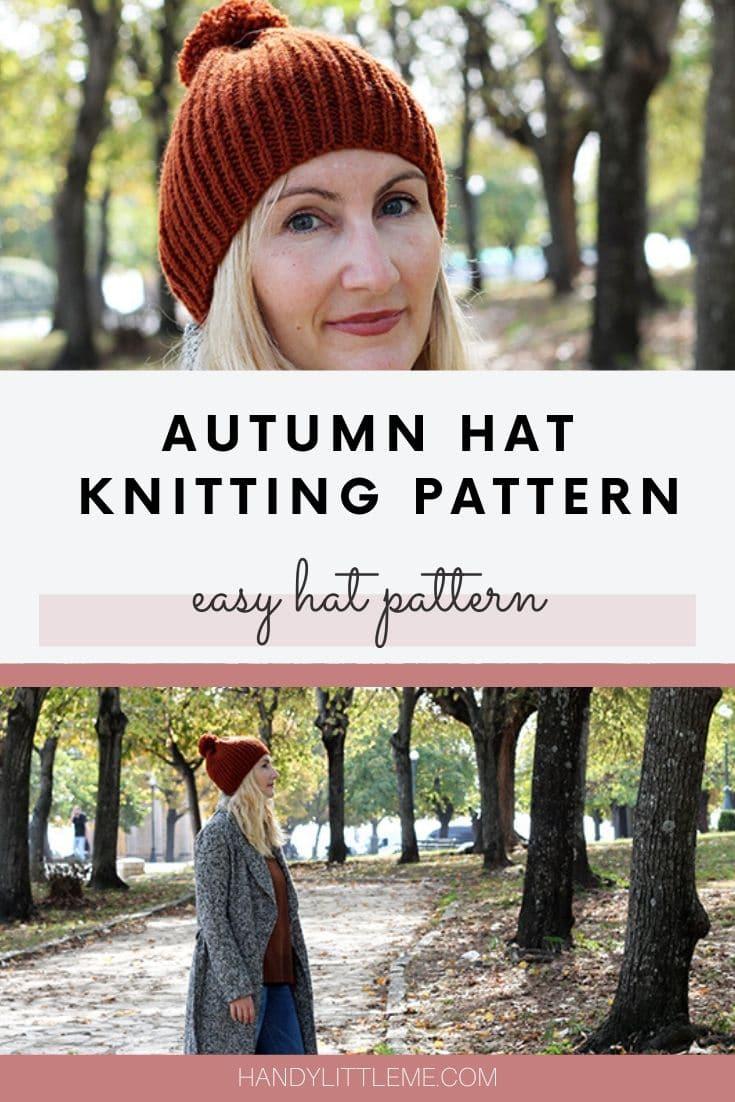 Autumn hat knitting pattern