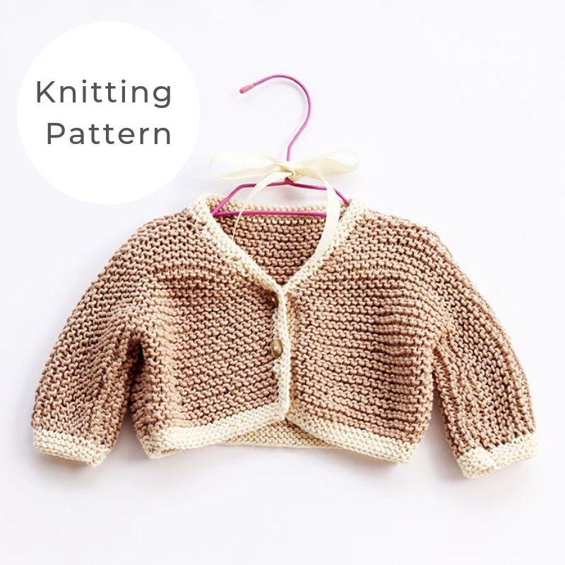 Baby Cardigan garter stitch