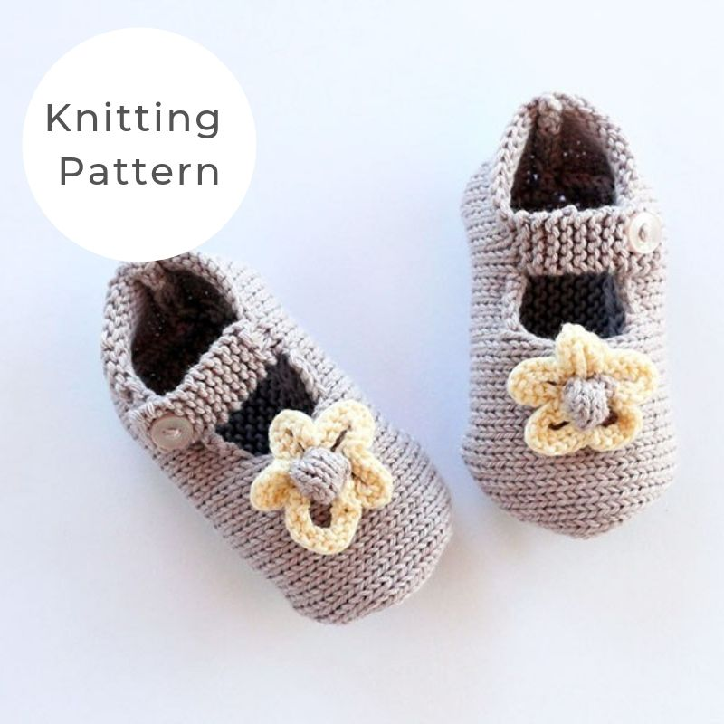 Baby Girl Shoes Knitting Pattern