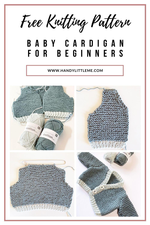 Baby cardigan knitting pattern free