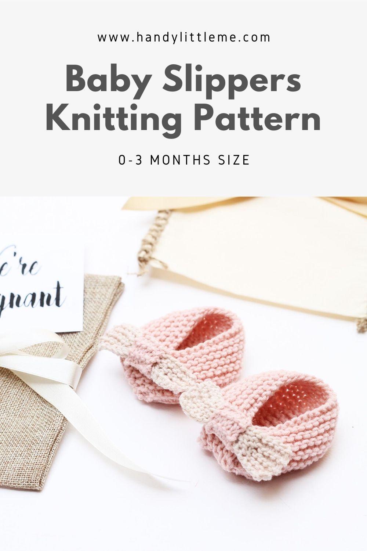 Baby girl slippers pattern