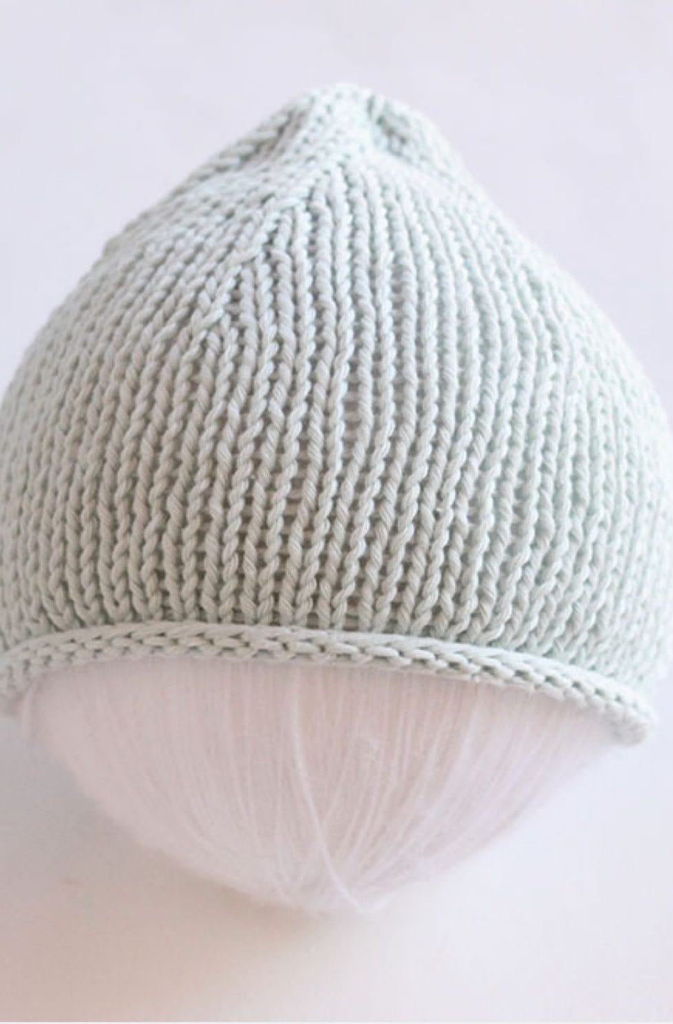 Baby hat knit on two needles