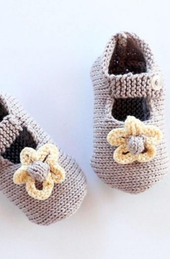 Baby Shoes Knitting Pattern {Mary Jane Style}