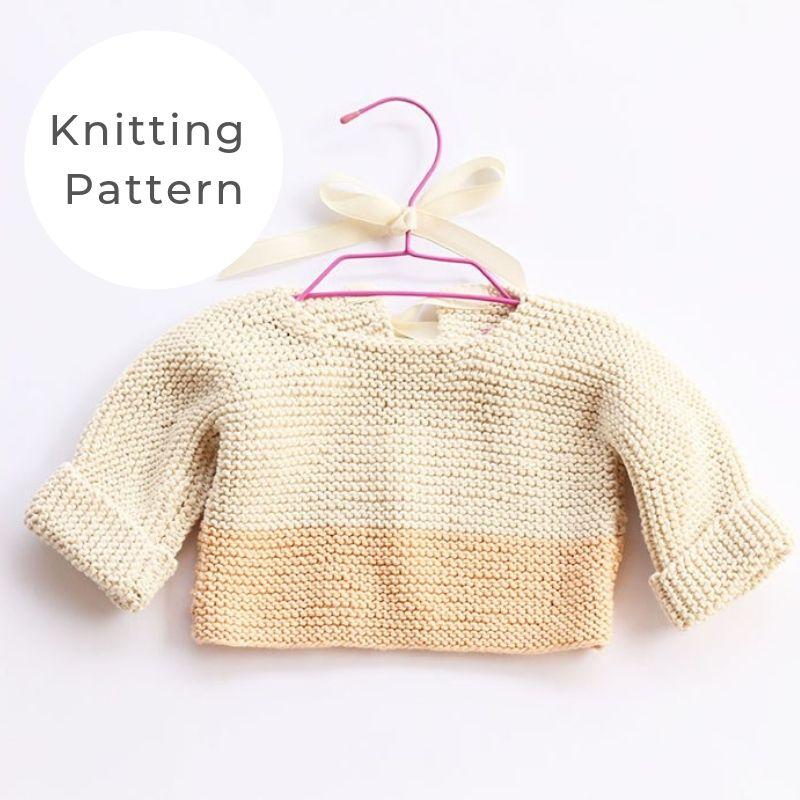 Baby sweater garter stitch