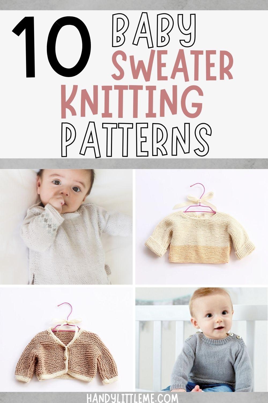 Baby sweater knitting patterns
