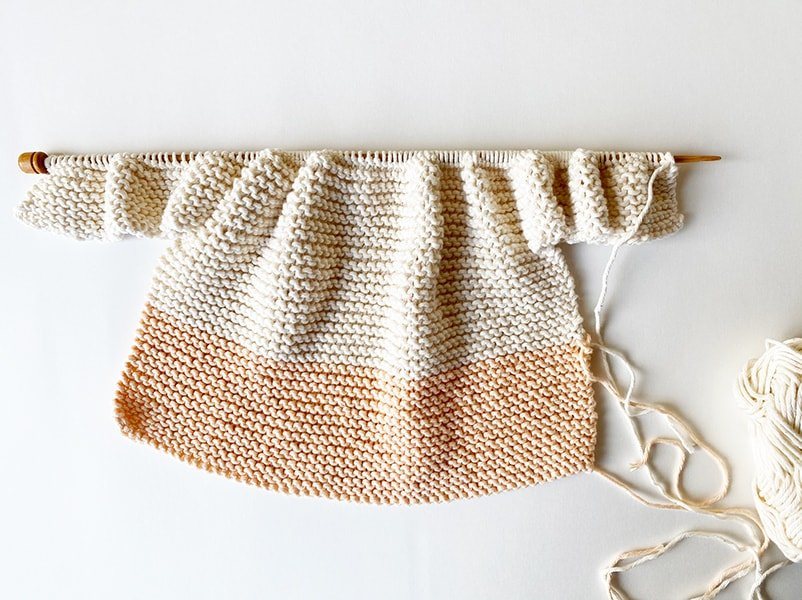 Baby sweater step 5